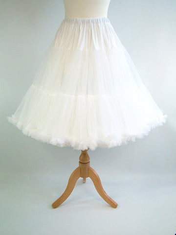 Soft & Fluffy Chiffon Petticoat - White
