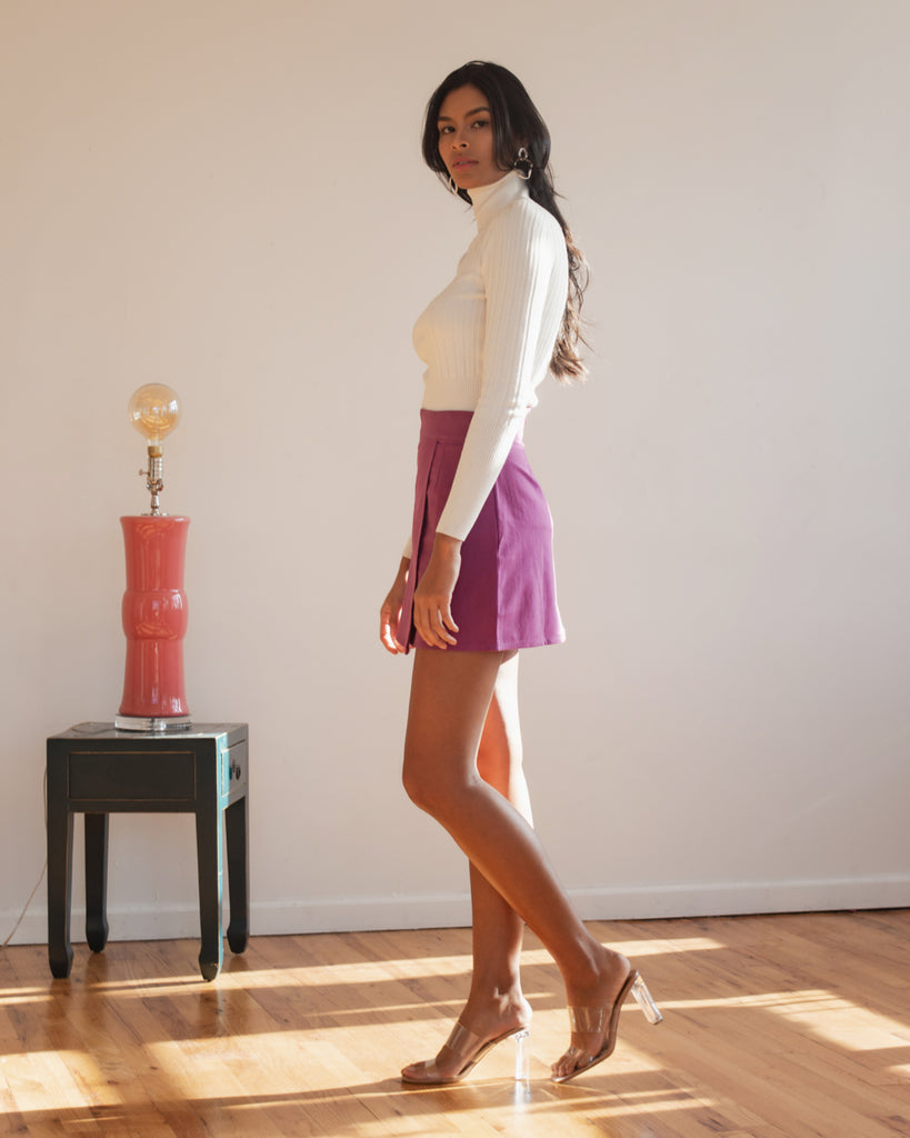 Ada Skirt in Grape Jam