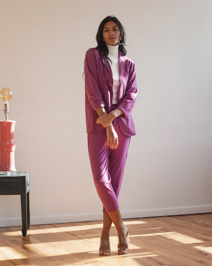Rosa Blazer in Grape Jam