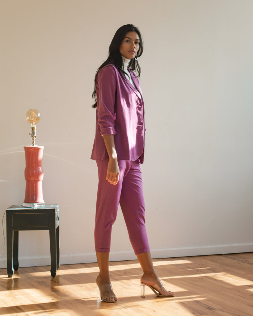 Katherine Pants in Grape Jam