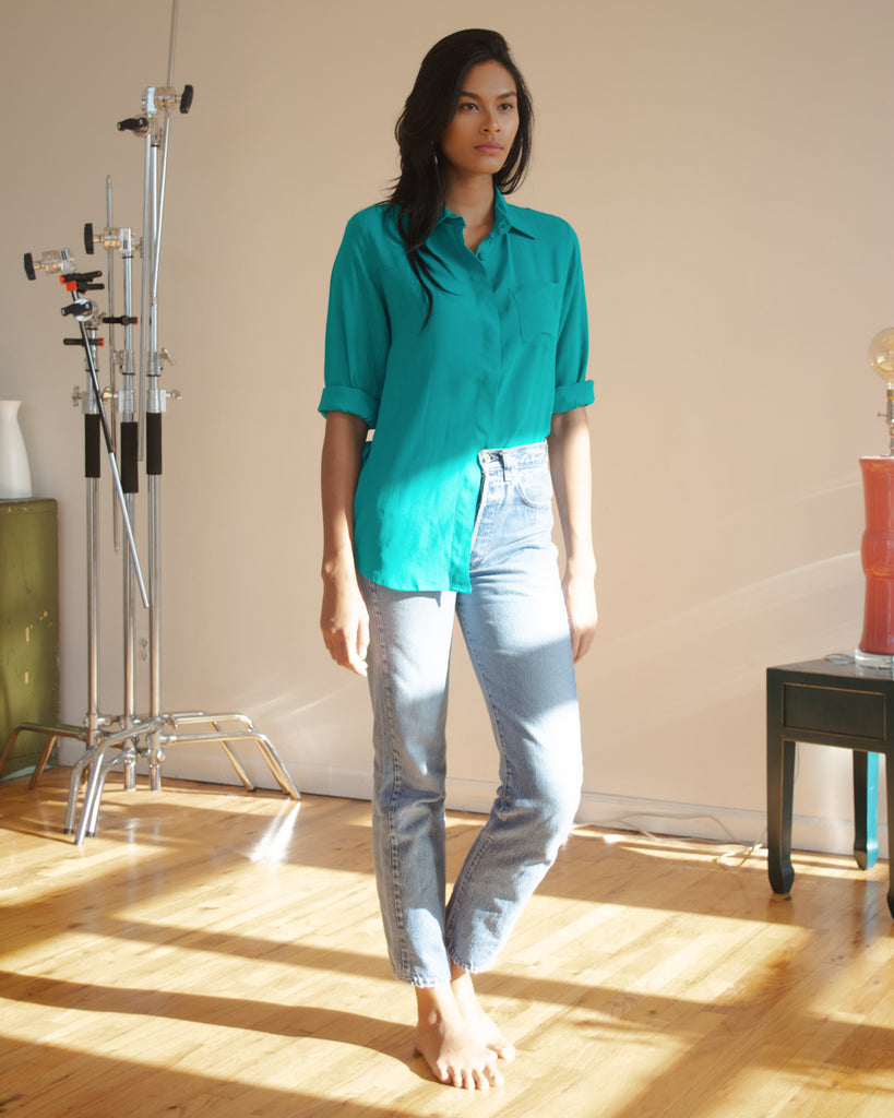 Amelia Top in Teal
