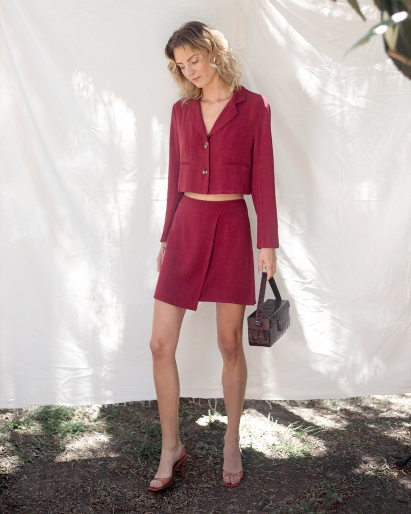Andrea Skirt Burgundy
