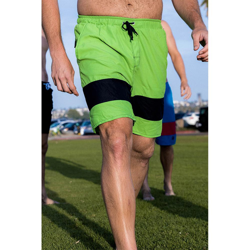 Mens most comfortable lime navy no netting swim trunks