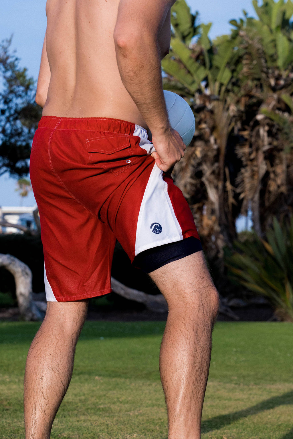 Most comfortable no netting mens swim trunks