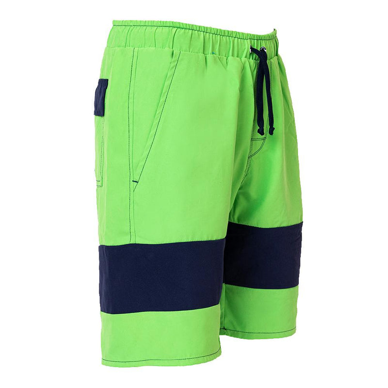 Anti chafe green navy mens swimwear for the texture sensitive