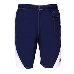 mens most comfortable blue white swim trunks