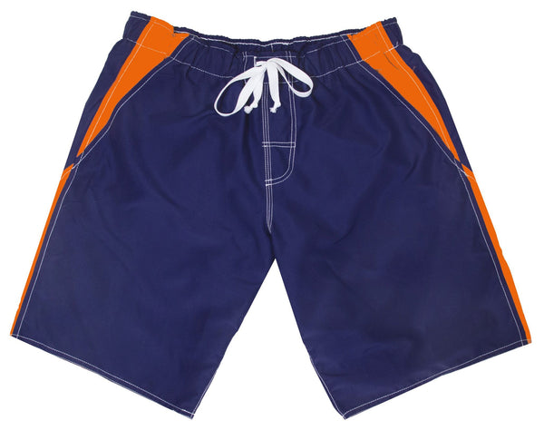 Men's Anti Chafe Swim Suit in Blue/Orange, The Zone