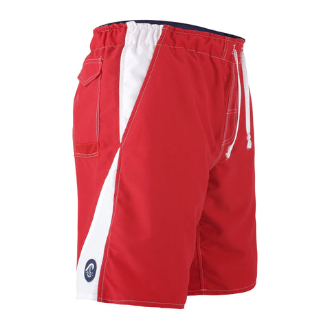 Men's Anti Chafe Swim Trunks in Red/White, The Zone