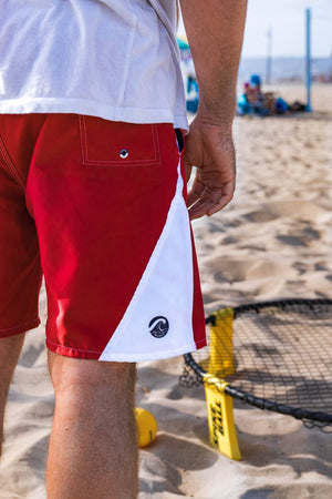 Anti Chafe Men's Red Swimwear with no nets