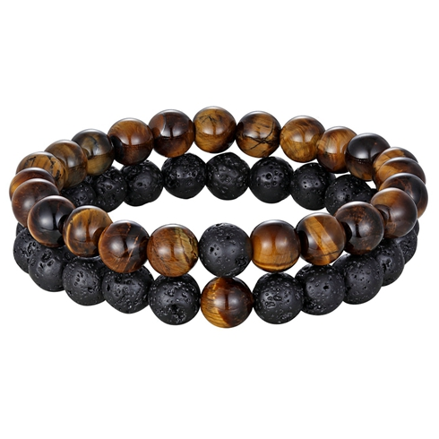 Black Lava Tigers Eye