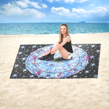 Large Astrology Beach Towel