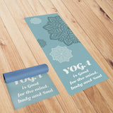 Blue Coloured Mandala Yoga Mat