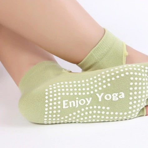 Green Yoga Socks