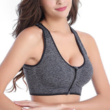 Front Zipper Yoga Bra