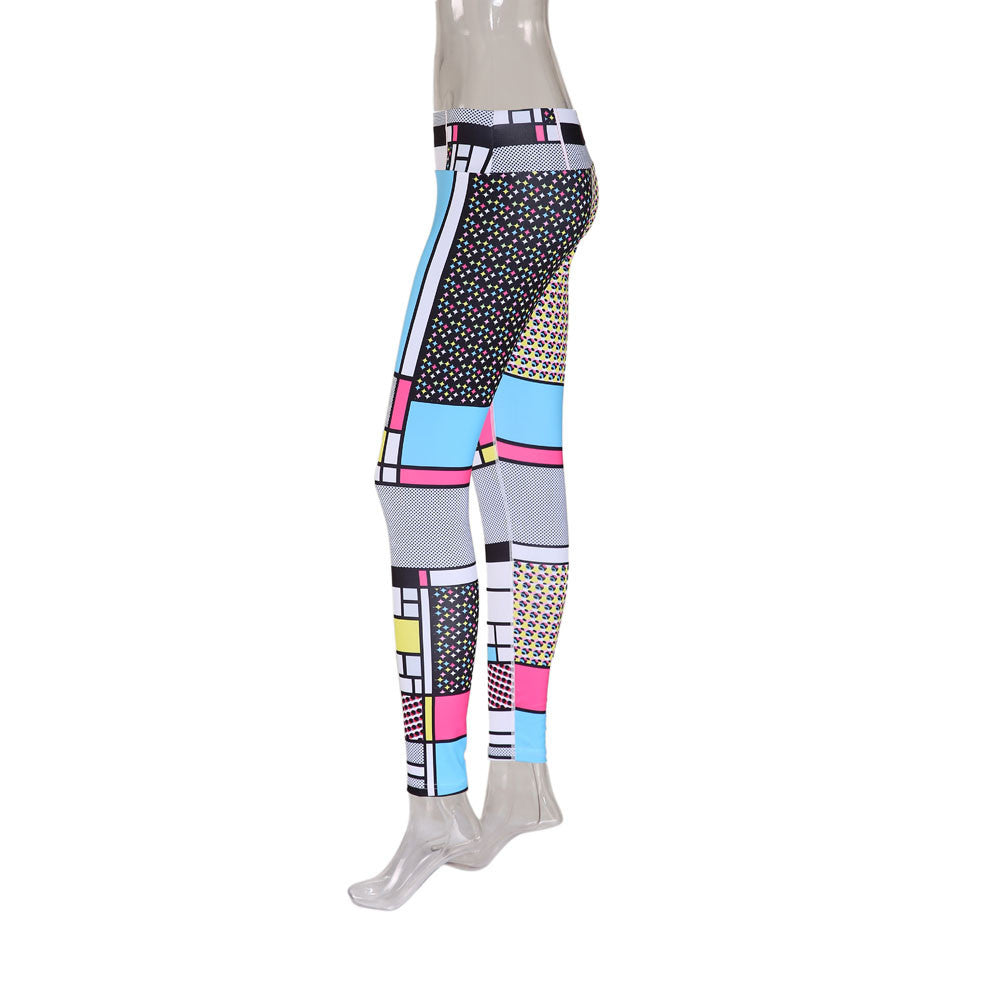 Cubic Print Leggings