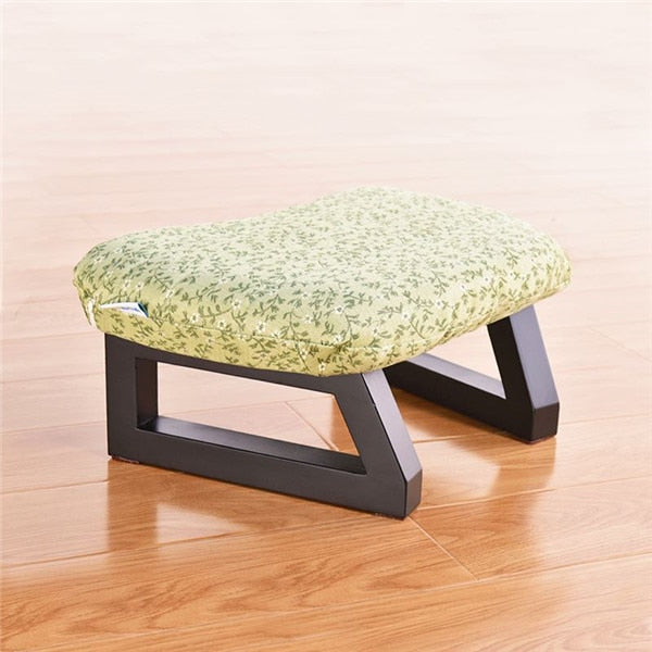 Meditation Stool - Green Flower