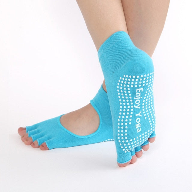 Blue Yoga Socks
