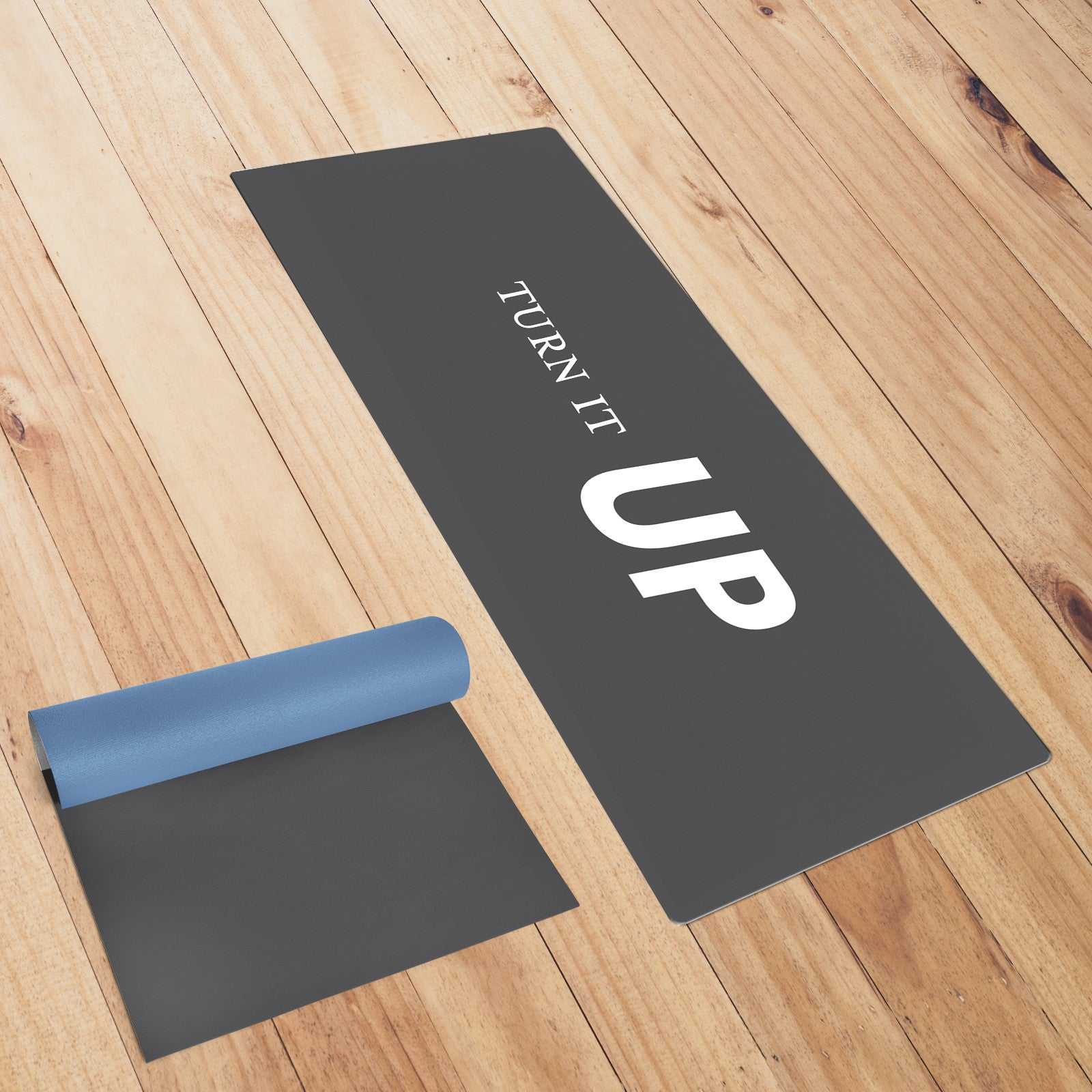 Turn It Up Charcoal Yoga Mat