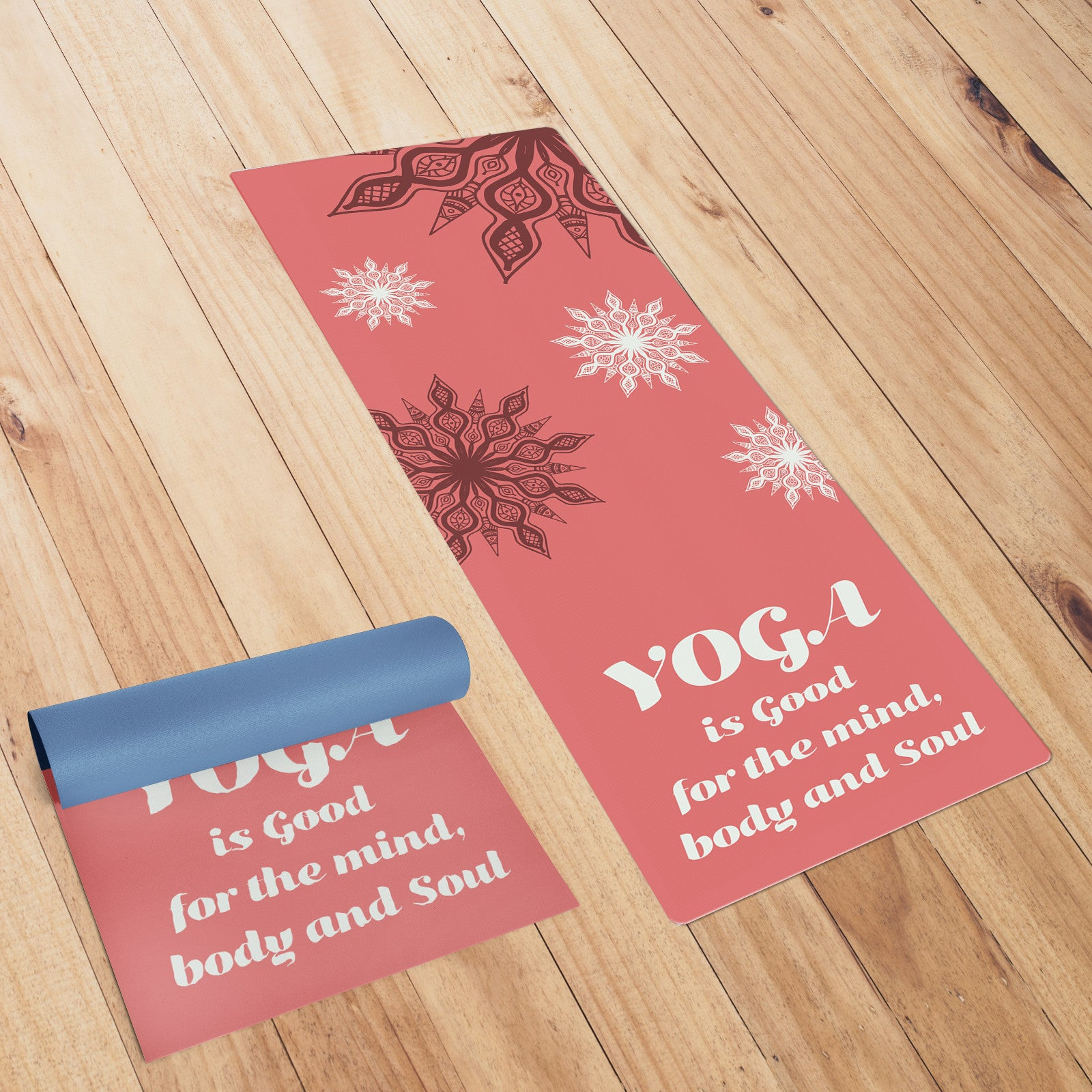 Red Coloured Mandala Yoga Mat