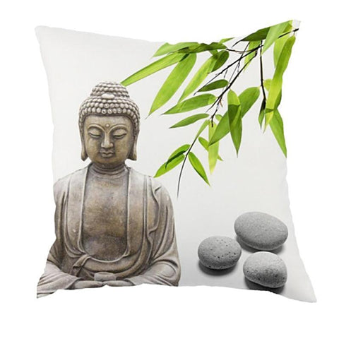 Hand Sewn Buddha Zen Cushion Cover