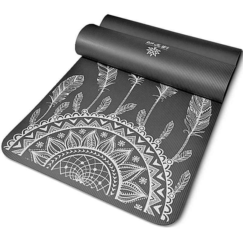 Best Patterned Non Slip Yoga Mat (10mm) iYoganic.com