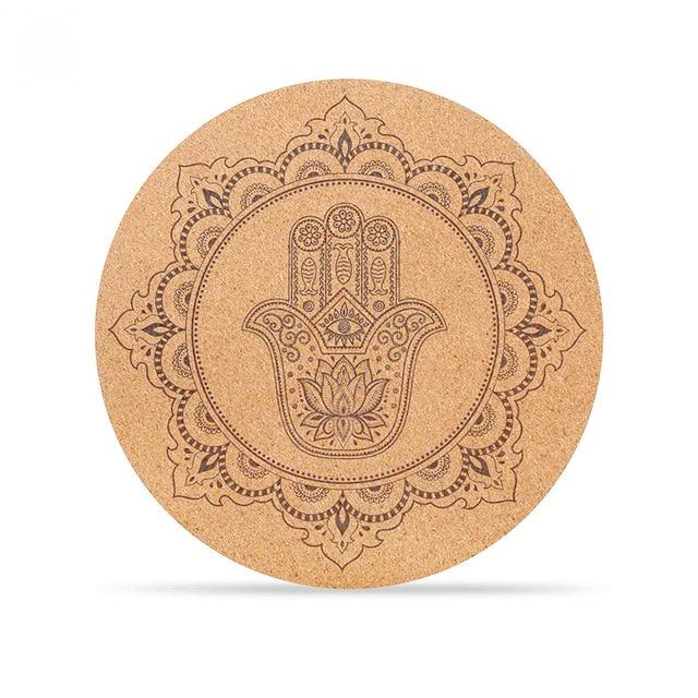 Cork Round Meditation Mat