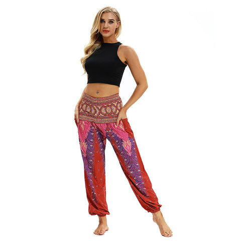 Indie Folk Harem Pants (Red)