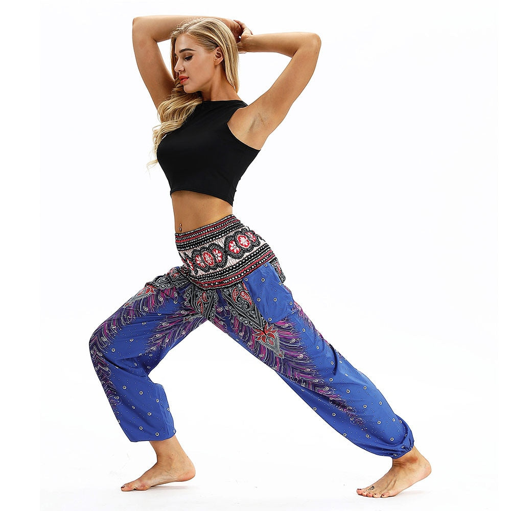 Indie Folk Harem Pants (Purple)