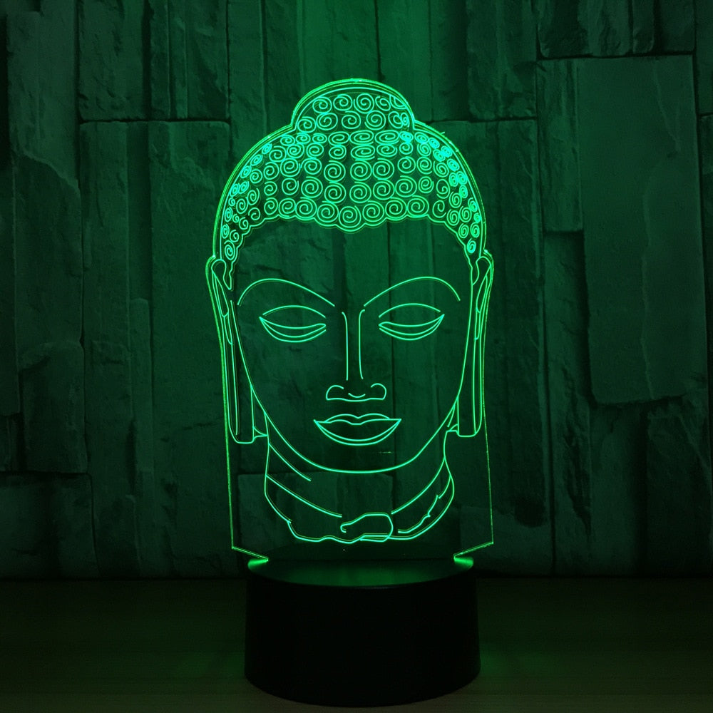 Transparent Buddha Head