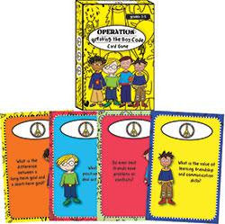 Operation Breaking the Boy Code Card Game by Dr. Poppy Moon and Cathy Wooldridge