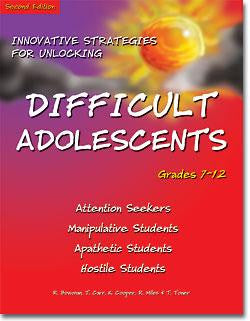 Innovative Strategies for Unlocking Difficult Adolescents by Robert Bowman, Ph.D., Kathy Cooper, M.S.W., Ron Miles, Ph.D., Tom Carr, M.S.LPC & Tommie Toner, Ed.D.