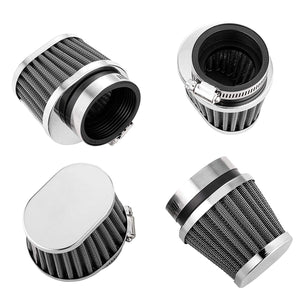 ALPHA MOTO Four Air Filter Filters Various Sizes Fits Honda CB750 CB900 KZ550 GS550 (54MM) - thealphpmoto