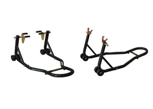 Motorcycle Stand Black Front And Rear Swingarm Spool Wheel Lift Sport Bike - thealphpmoto