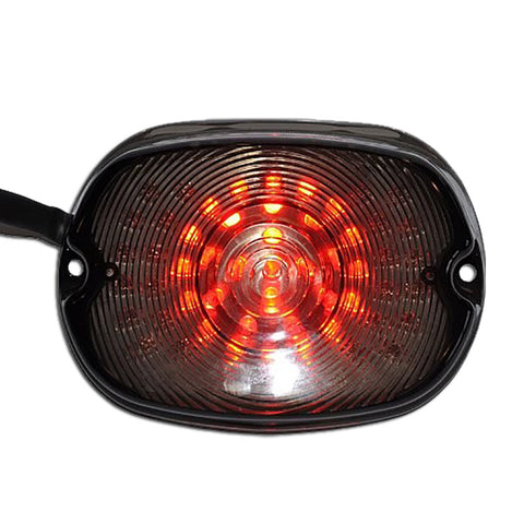 New LED Tail Brake Light for Harley HD Sportster Softail Dyna 1991-2010 Smoke - thealphpmoto