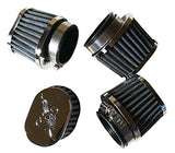 AlphaMoto FOUR Chrome POD oval Air Filters Suzuki GS550 E L 1977 1978 1979 39MM - thealphpmoto