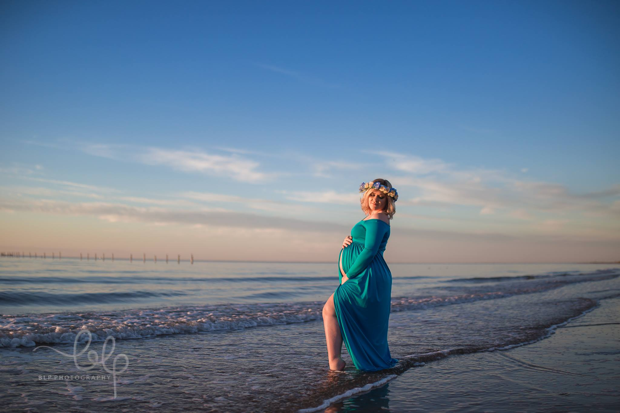 Julianna Maternity dress-off the shoulder-open on the front-maternity photoshoot