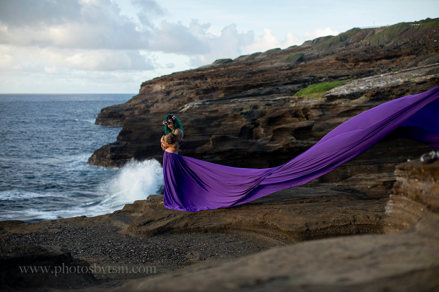 HAWAII two pieces flying dress/maternity photoshoot/maternity dress/ engagement dress/ wedding photoshoot/baby belly/