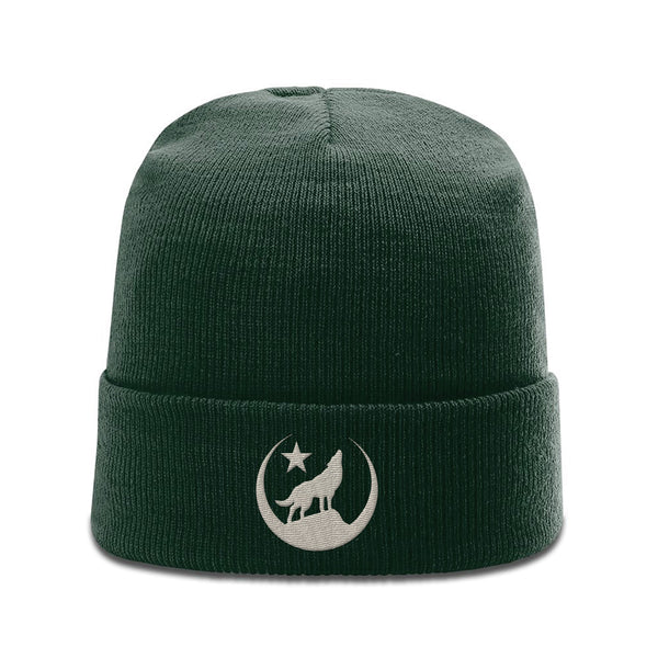 Howling Wolf knit beanie