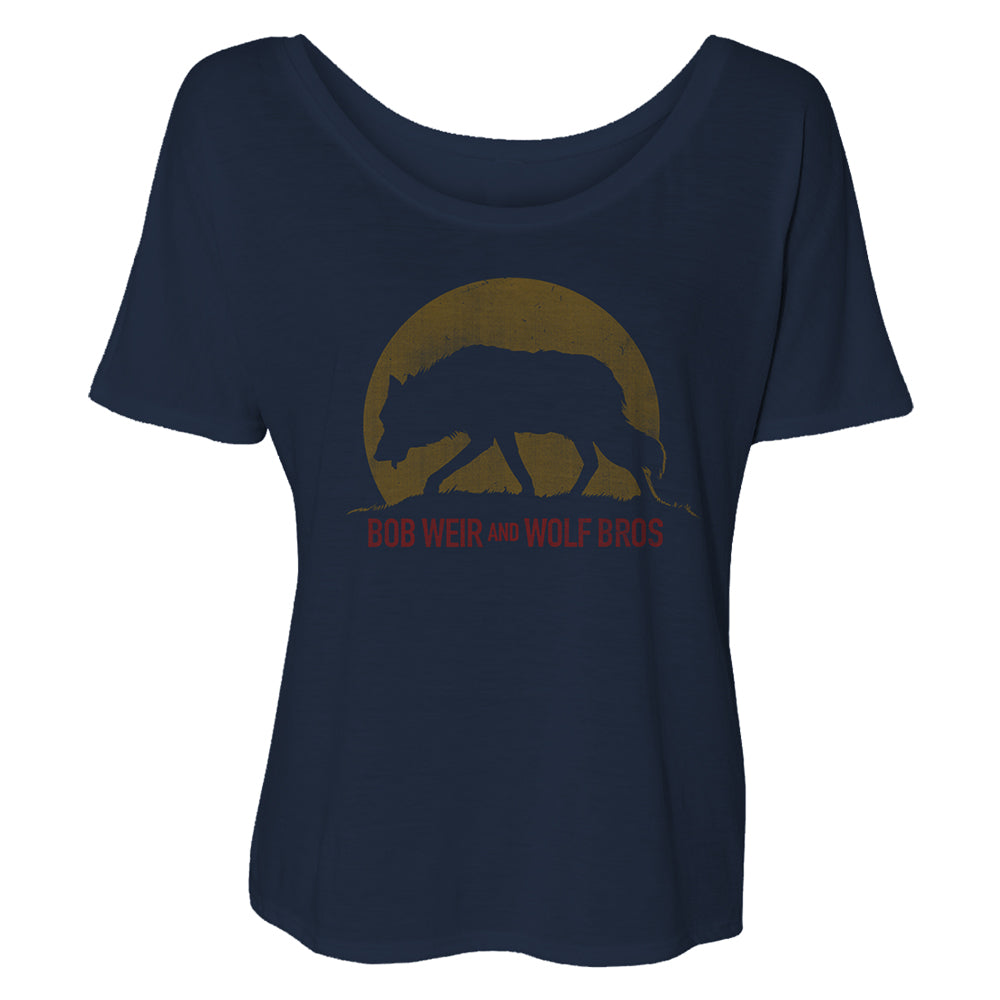 Bob Weir and Wolf Bros. Ladies Slouchy Tee-Bob Weir