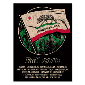 Bob Weir and Wolf Bros. Fall Tour Poster-Bob Weir