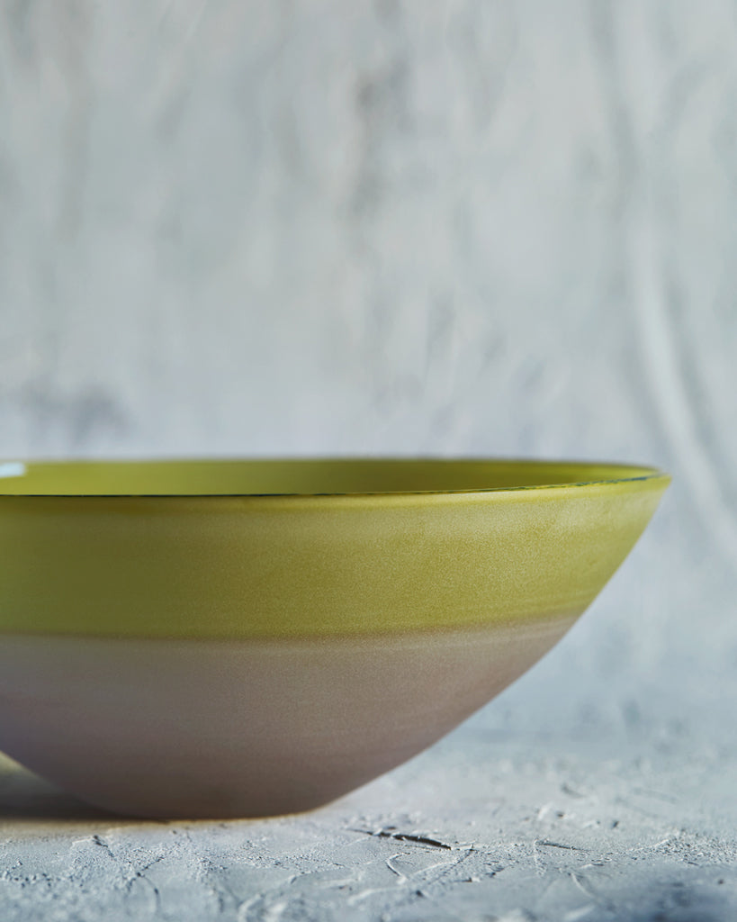 Simplicity Glass Bowl - Yellow and Pink (OUT OF STOCK)