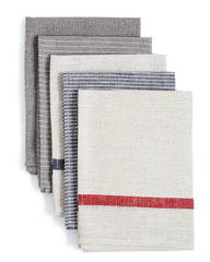 Fog Linen Work Linen Kitchen Cloth - Natural with White Stripes