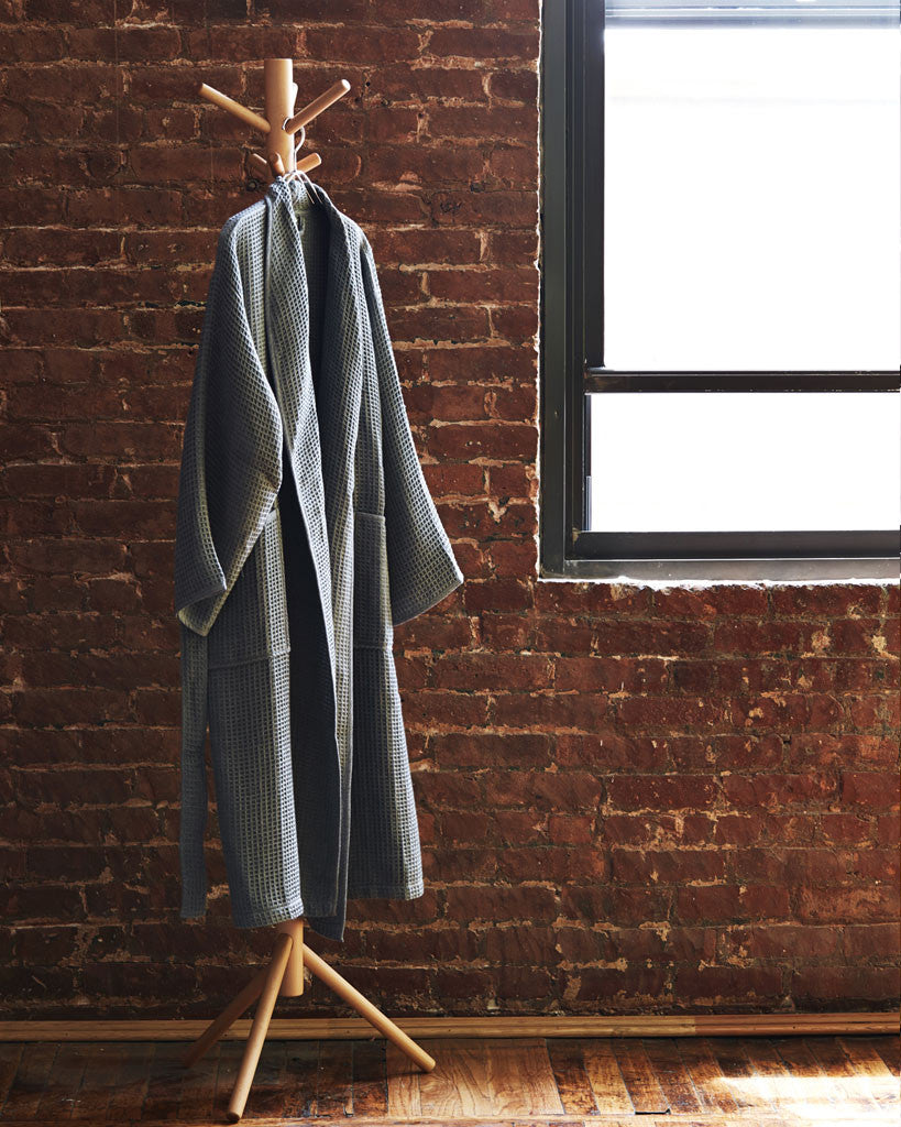 Uchino Air Waffle Bathrobe - Grey (OUT OF STOCK)