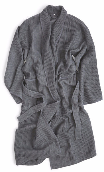 Air Waffle Bathrobe - Grey