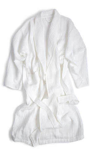 Air Waffle Bathrobe - White (OUT OF STOCK)