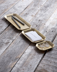 Futagami Brass Stationary Tray - Small