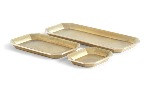 Brass Stationary Tray Set