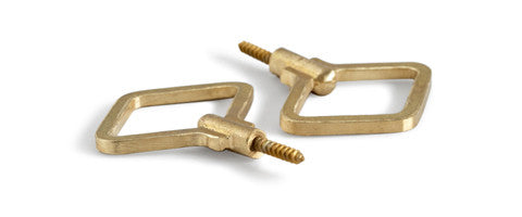 Brass Diamond Hooks