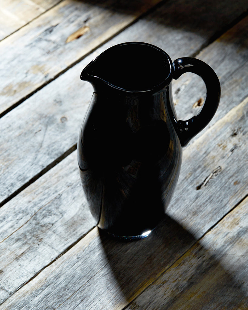 Factory Zoomer Black Glass Jug