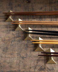 Futagami Brass Chopstick Rests - Flash (OUT OF STOCK)